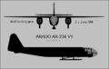Arado Ar 234V1 two-view silhouette.png