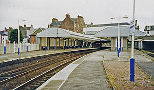 Arbroath railway station - The station in 2002