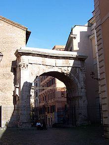 Uma das entradas originais de Roma