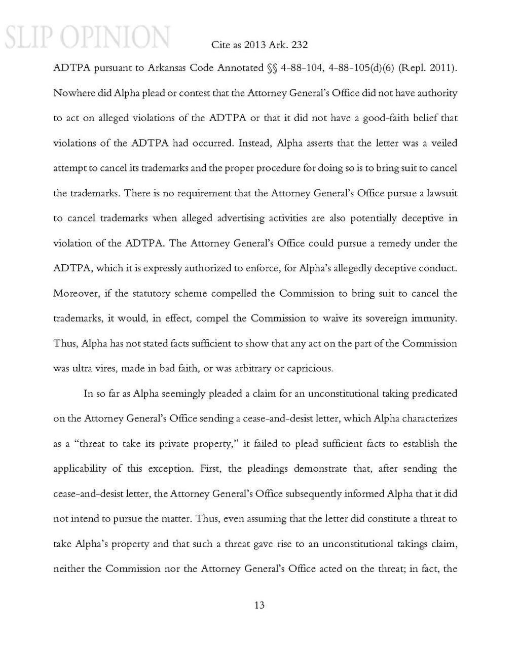 Page:Arkansas Lottery Commission v  Alpha Marketing pdf/13
