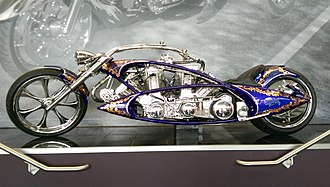 Arlen Ness - A motorcycle with two engines by Arlen Ness