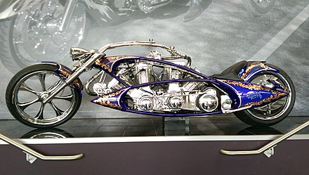 A motorcycle with two engines by Arlen Ness Arlen Ness two engine motorcycle.jpg
