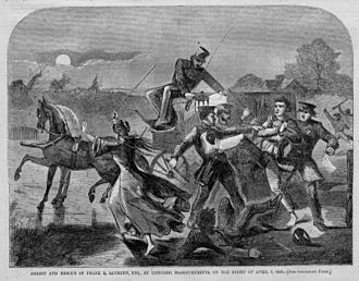 Secret Six - Frank Sanborn of Concord, MA, resists arrest by Federal Marshals in regard to his support of abolitionist John Brown