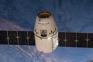 SpaceX CRS-3 - SpaceX CRS-3 Dragon spacecraft approaching ISS on 20 April 2014