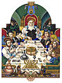 Arthur Szyk (1894-1951). The Haggadah, The Family at the Seder (1935), Łódź, Poland.jpg