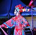 Artist performing cultural dance at Chinese new year festival at Tumbalong park, Darling Harbour, Sydney 2019.jpg