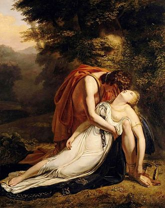 Orpheus and Eurydice - Orpheus Mourning the Death of Eurydice, 1814 painting by Ary Scheffer