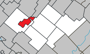 Asbestos, Quebec - Image: Asbestos Quebec location diagram