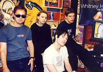Rock music in Ireland - Rock Group 'Ash' from County Down in 1999.