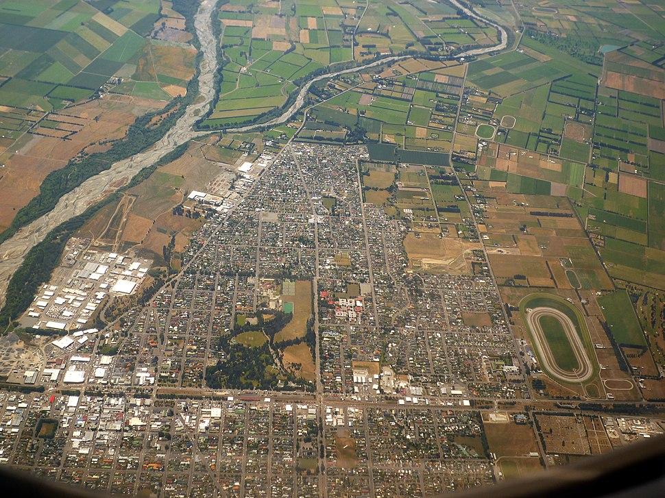 Ashburton NZ aerial
