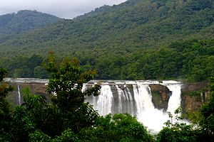 Brindavanam (2010 film) - Athirappilly Falls in Thrissur district of Kerala where parts of the film's climax and few crucial sequences were shot.