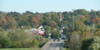 Attica, Indiana - Looking into Attica across the Wabash