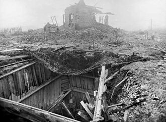 9.45-inch Heavy Mortar - In a concealed cellar near Lens, 30 January 1918