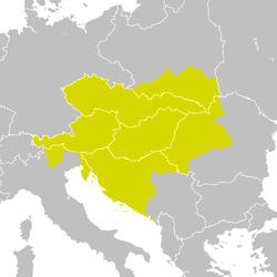 Austro-Hungarian Monarchy (1914) over postwar map (1929) detail.png