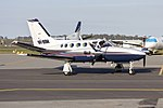 Avcair Pty Ltd (VH-BSM) Cessna 425 Conquest I taxiing at Wagga Wagga Airport.jpg