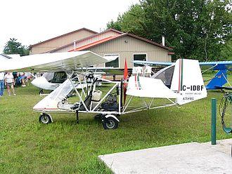 Mignet Pou-du-Ciel - HM.1000 Balerit side view showing wing arrangement