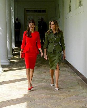 Juliana Awada - Awada alongside US First Lady, Melania Trump in the White House, April 2017.