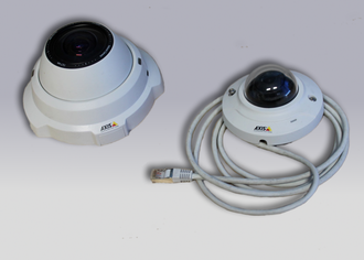 IP camera - Axis dome cameras 212PTZ and M3005-V respectively