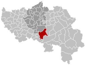 Aywaille - Image: Aywaille Liège Belgium Map