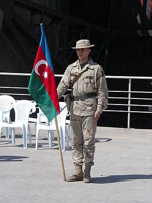 Azerbaijani peacekeeping forces - Azerbaijani peacekeeper in Iraq