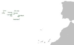Położenie Azorów