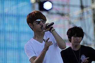 "Billboard K-Town - Beast's Junhyung and Hyunseung, ""Fiction"" KBS concert rehearsal, 29th New York Korean Festival, Overpeck County Park, October 9, 2011."