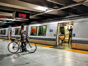 Embarcadero station - A BART train at Embarcadero station in 2016