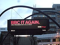 BBC iPlayer advertisement on Old Street roundabout.jpg
