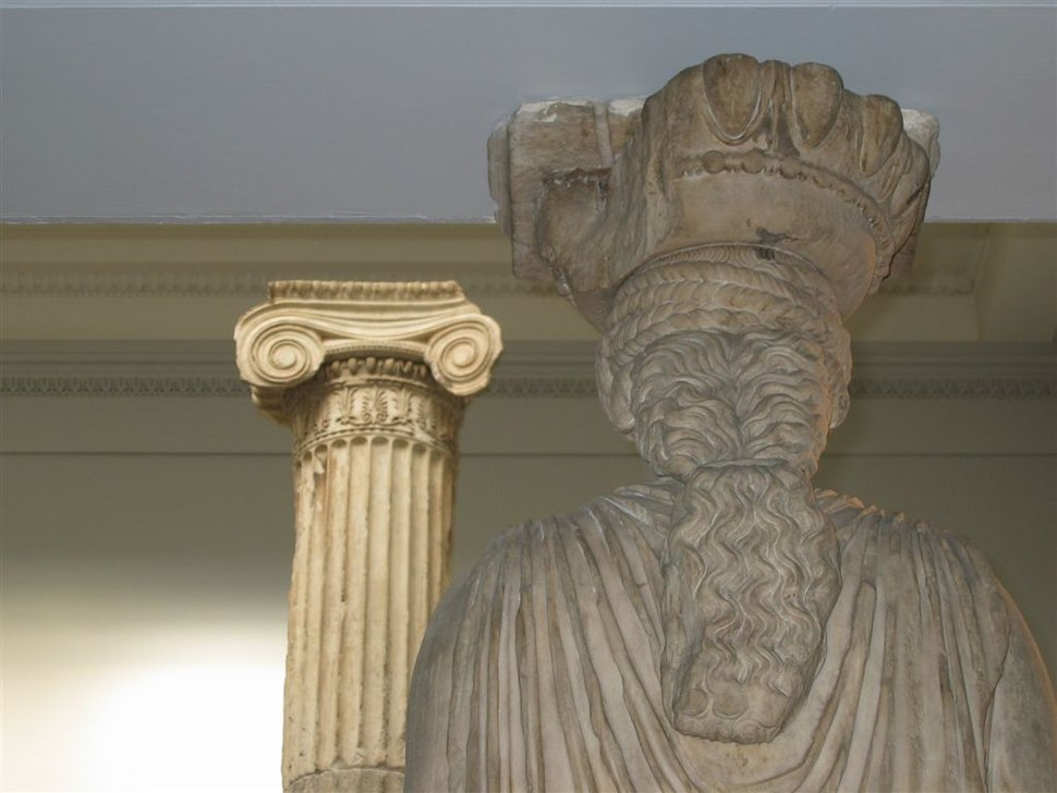 BM, GNR; The Acropolis & The late 5th C BC ~ Erechtheum Caryatid + Ionic Column (Room 19)