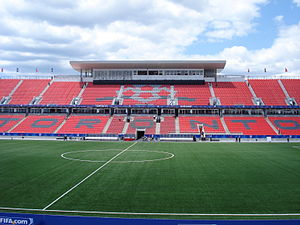 Toronto FC - BMO Field in July 2007, pre-expansion, during the 2007 FIFA U-20 World Cup