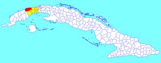 Bahía Honda, Cuba - Image: Bahía Honda (Cuban municipal map)