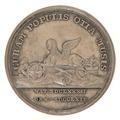 Baksida av medalj med sfinx samt text - Skoklosters slott - 99373.tif