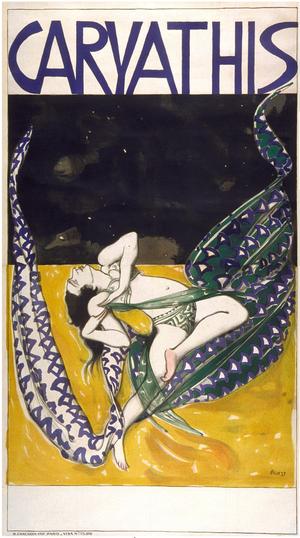 La belle excentrique - Caryathis, poster by Leon Bakst