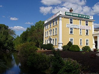 Woburn, Massachusetts - Baldwin House, Woburn, Massachusetts with a stretch of the Middlesex Canal in foreground