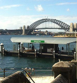 Balmain East ferry wharf Sydney Ferries ferry wharf