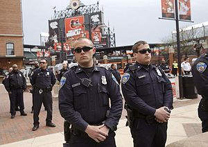 Baltimore Police Department - Baltimore Police Officers at Camden Yards