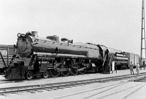 4-4-4-4 - The Baltimore & Ohio Railroad's #5600 George H. Emerson.