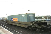 Pu0026O Nedlloyd Inter Modal Freight Well Car At Banbury Station. England,  (2001)