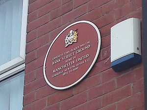 Bank Street (football ground) - A plaque marking the former location of the ground