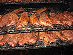 A barbecue cooker in Memphis