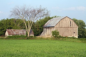 English: Old barn in Rural Ontario, Canada