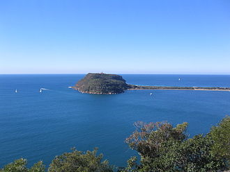 Broken Bay - Image: Barrenjoey Head from West Head