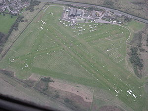 City Airport & Heliport - Image: Barton overhead