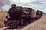 East African Railways 30 class steam locomotive no. 3015 pulls a freight train near Morogoro, Tanzania, in 1967
