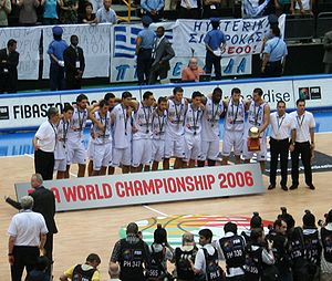Greece national basketball team - Greece won the silver medal at the 2006 FIBA World Championship after their memorable 101–95 win against USA.