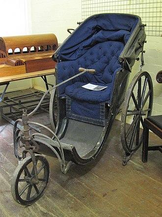 Bath chair - Bath chair in museum store