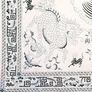 China–Indonesia relations - Batik Pesisiran with the image of qilin, demonstrate Chinese-influenced images, testify the centuries-old relations between China and Indonesia.