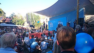 Anna Kinberg Batra - Anna Kinberg Batra speaks before a crowd at Almedalsveckan in Visby, July 2015.