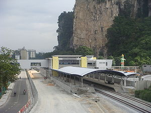 Batu Caves Komuter station - Image: Batu Caves Railway Station 2