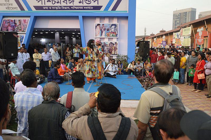 File:Baul Song Performance - West Bengal Pavilion - 41st International Kolkata Book Fair - Milan Mela Complex - Kolkata 2017-02-04 5163.JPG